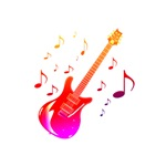 red purple notes musical image