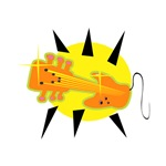 electric guitar graphic head on