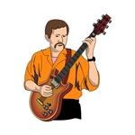 semihollow guitar player orange