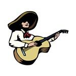 spanish guitar player white shirt