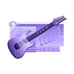 guitar image dark purple