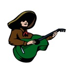 mexican guitar player green