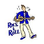rock n roll guy bright blue