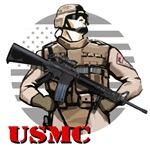 USMC Superhero T-Shirts & Gifts