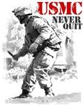 USMC Never Quit II T-Shirt & Gifts