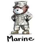 Tough Teddy Marine T-Shirts & Gifts