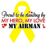 Proudly standing by my Airman