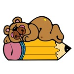Pencil Bear T-Shirts and Gifts