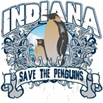 Save the Penguins Indiana T-Shirts and Gifts
