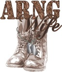 National Guard Wife Combat Boots N Dog Tags