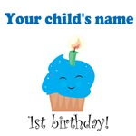 Personalized First Birthday - Blue