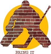 Brick Wall Hockey Goalie