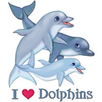 Dolphin Family and Text