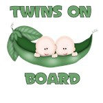 TWINS ON BOARD IN PEAPOD