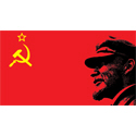 Lenin Soviet Flag