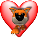 Heart & 3D Tiger