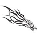 Flaming Bird Tattoo