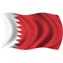 Wavy Bahrain Flag