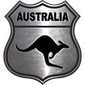 Silver Australia Crest