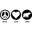 Peace Love Bear
