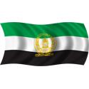 Wavy Afghanistan 1992 Flag