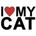 I Love My Cat T-shirts & Gifts
