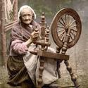 Irish spinner and spinning wheel