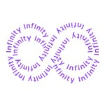 Purple Text Infinity