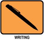 Writing (orange)