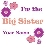 Big Sister Floral Personalized