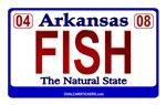 Arkansas License Plate Sticker - FISH
