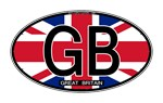 Great Britain Colors Oval