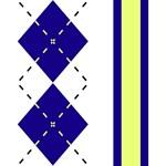 Blue & Yellow Argyle with Stripe