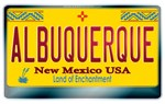 New Mexico License Plate [ALBUQUERQUE]