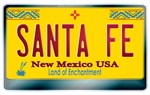 New Mexico License Plate [SANTA FE]