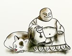 Buddha and the cat