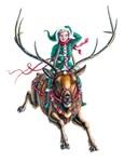 Flying Holiday Elf by Marc Brinkerhoff