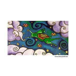 Marcy Hall's Green Wind Rabbit