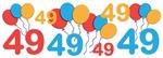 Colorful Festive 49th Birthday