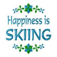 <b>HAPPINESS IS SKIING</b>