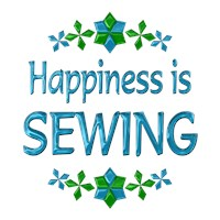 <b>HAPPINESS IS SEWING</b>
