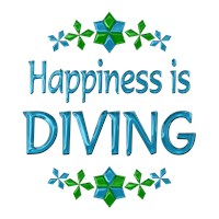 <b>HAPPINESS IS DIVING</b>