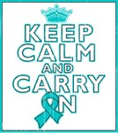 Ovarian Cancer Keep Calm Carry On Shirts