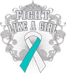 Cervical Cancer Fight Like A Girl Deco Shirts