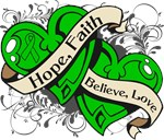 TBI Hope Faith Dual Hearts Shirts