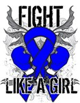 Colon Cancer Ultra Fight Like A Girl Shirts