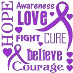Pancreatic Cancer Hope Words Shirts