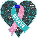 Thyroid Cancer Believe Shirts
