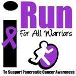 I Run For Warriors Pancreatic Awareness T-Shirts