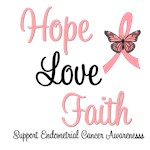 Endometrial Cancer Hope Awareness T-Shirts